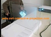 On sale !!   white color rear projection screen film for shopping window advertising  (1.524*9m) free shipping