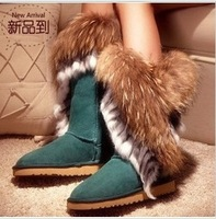HOT! Autumn Winter  boots female thick heel boots with a single PU leather women's shoes high-heeled boots ,free shipping, C84