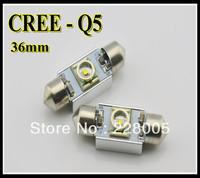 4pcs/lot free shipping 5w Cree No Polarity canbus led,c5w 36mm led,festoon canbus led,festoon high power 36mm 12v 24v