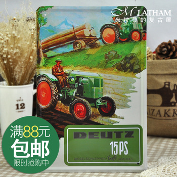 Metal painting vintage fashion Small decoration paintings deutz tractor