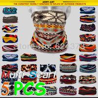 5 PCS-Multi Scarf Neck Bandana Mask Hat Cap Heardwear Tubu 15% Pashm Warm Cover Bike Cycling Hikiing Hunting Fising Scarves