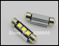 Free shipping 36mm 3 SMD Pure White Dome Festoon CANBUS Error Free Car 3 LED Light Bulb Lamp car light