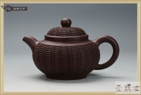 yixing teapot Yixing purple clay teapot 2013 ore Wang Lifen bamboo dropout only genuine pot all handmade 290cc teapot  tea set