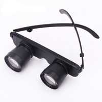 Glasses Style Fishing Binoculars Telescope Black 3X28 Zoom Opera Theater Gift Hyperopia Myopia Adjustable