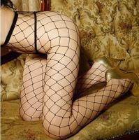 New sexy Hot sale big mesh fishnet stockings pantyhose women black sexy stocking S006