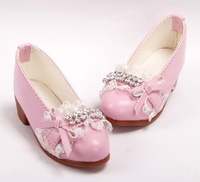 Free shipping 1/3 1/4 high quality fashion cute pink bjd doll shoes