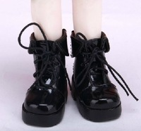Free shipping 1/6 high quality black baby doll boots