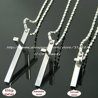 Fashoin 316L Stainless Steel Silver Polish Cross Pendant  Necklace for Men/Women 316L Stainless Steel Jewelry 13063019