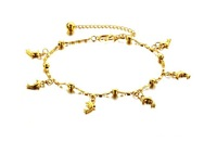 Hot Jewelry Exquisite Fashion Gift Anymal Beach 18K Gold Classic Dolphin Charms Beads Women Anklets