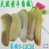 Wholesale 10PCS/lots Natural genuine ox horn comb hotel comb gift comb hair comb -NJ710010q