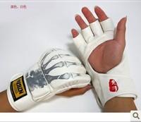 Wulong mma sandbag gloves semi-finger thickening finger gloves sanda glove