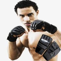 Free senior boxing gloves half finger gloves tape bandage sanda