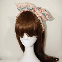 Lace decorative pattern sweet princess wind bohemia rabbit ears hair bands hair band