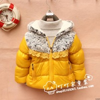 Winter wadded jacket thickening thermal windproof wadded jacket child wadded jacket waterproof cotton-padded jacket female child
