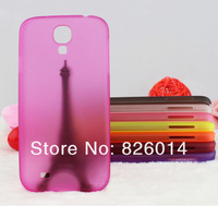 Wholesale clear matte transparent PP hard case cover 0.5mm ultra thin cases MIX COLOR for Samsung Galaxy S4 SIV i9500 10pcs/lot