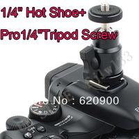 "100% GUARANTEE Adjustable Swivel Angle Ball 1/4"" Hot Shoe Mount Adapter Holder Camera Video"