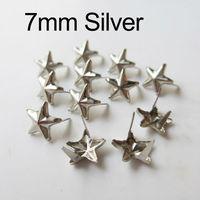 100Pcs 7mm mini Yijiao Nails  start metal rivet beads for clothing collar