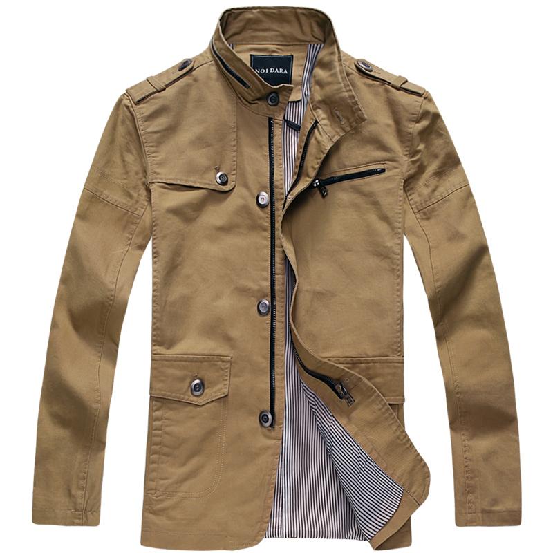 Free shipping xxxl xxxxl autumn new arrival mens clothing jacket medium long 100 cotton xxxl xxl