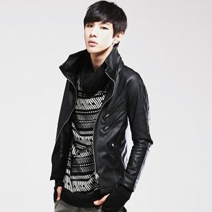 Free shipping 2013 spring male jacket slim coat jacket thin skin jacket male outerwear men s