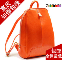 Backpack women's genuine leather backpack female cowhide preppy style travel backpack double-shoulder female bags