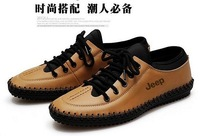 Free shipping high quality cowhide genuine leather shoes men classic causal shoes US size 5-11