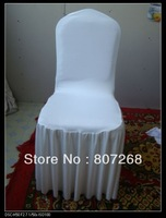 Free shipping  - Luxury off white (beige)  lycra spandex chair cover with pleats around the seats