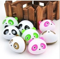 8 pcs Cute panda Air Freshener Perfume Diffuser for Auto Car perfume holder free shipping #SSS