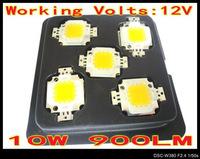50pcs/lot 10W 900LM LED Bulb Chip IC SMD 12V Lamp Light White Warm High Power