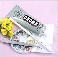 Promotion Diy nail art rhinestone professional e6000 pasted glue 25pcs 9ML +2pcs 3ml As gift
