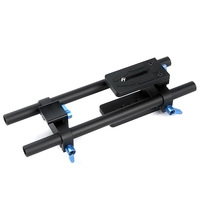 Free shipping +camera DP500 DSLR rail 15mm rod support system for mattebox 5D 2