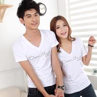 Lovers short-sleeve 2013 T-shirt lovers summer lovers t-shirt male women's lovers design t109 p25