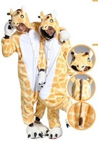 Promotions 2013 New Adult christmas costumes Animal Cosplay  Onesies Pajamas Sleepwear Pyjamas Costume Giraffe cosplay