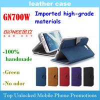 Leather Case for Gionee GN700W Imported high-grade materials 100% handmade Free shipping