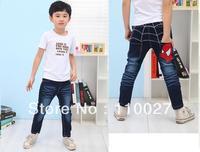 2014 baby boy jeans spring autumn denim trousers kids spiderman pants children cacual longs 5pcs/lot wholesale kids wear clothes