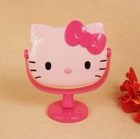 Women   Makeup Mirror   Kitty    Fashion   Mirror     Girls  Gift   pink  and  white   colors