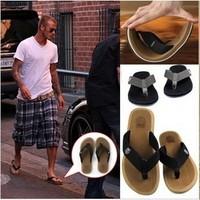 Free shipping Beckham summer fashion shoes slip-resistant Men beach slipper flat male flip flops shoes flip sandals