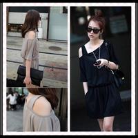 2013 summer fashion strapless elastic fine cotton jumpsuit clothes jumpsuit shorts female