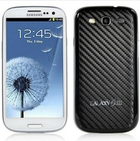 Black Carbon Fiber Housing Battery Back Cover For Samsung Galaxy S3 i9300 Free Shipping