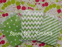 200pcs wedding Lime Green paper bags,Treat Craft Paper Popcorn Bags, Food Safe Party Favor Paper,, Best Party Gift Bag