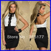 Free shipping Classic Sequin Bandage Dress Sexy Clubwear Wholesale 10pcs/lot  2013 Dress New Fashion 2863