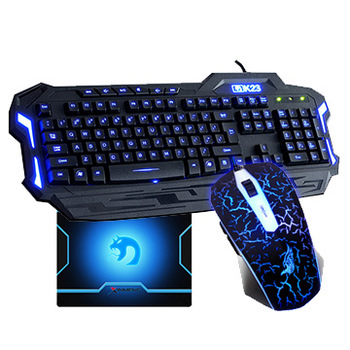 Free shipping usb mouse and keyboard set wired keyboard mouse combos led keyboard set