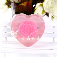free shipping 2013 fashion Daily necessities pink heart rose essential oil soap handmade soap 4a205