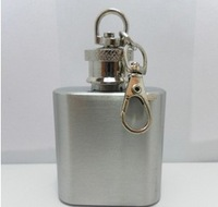 Portable portable small wine pot, stainless steel hip flask, 1 oz hip flask, with key chain, wholesale.
