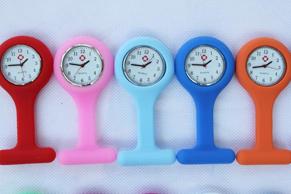 1000pcs/lot free shipping High Quality nurse watch doctor watch hang nurse watch silicone nurse watch(China (Mainland))