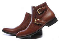 2014 New Arrival Trendy Men's Leather Ankle Boots Designer Dress Shoes Fashion Autumn Boots Big Size Boots Men