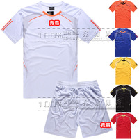 Soccer jersey set football jersey paintless soccer jersey training suit blank football clothing male short-sleeve