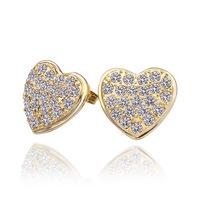 Free shipping 18K Gold Plated Earrings, Czech Crystal Earrings wholesale 18K Gold jewelry  18krgpe382