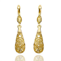 Free shipping 18K Gold Plated Earrings, Czech Crystal Earrings wholesale 18K Gold jewelry ,Mixed MOQ 15$ 18krgpe345
