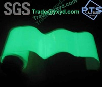 photoluminescent film with adhesive ,self glow in the  dark film ,glow plastic soft sheet