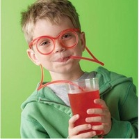 (Min order$5 can mix) , Free Shipping Novelty items Amazing Silly multi-colors Glasses Drinking Straw Eyeglass Frames